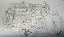 Bedford 8.2litre.(500in). Diesel engine. TS1157.Engine Manual.